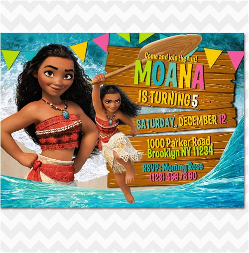 Moana Birthday Invitations Walmart Ithinkparty Invitation Invites