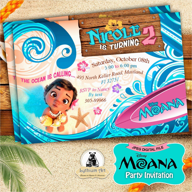 Moana Birthday Invitations Walmart Moana Invitation Moana Party Invitation Moana Birthday