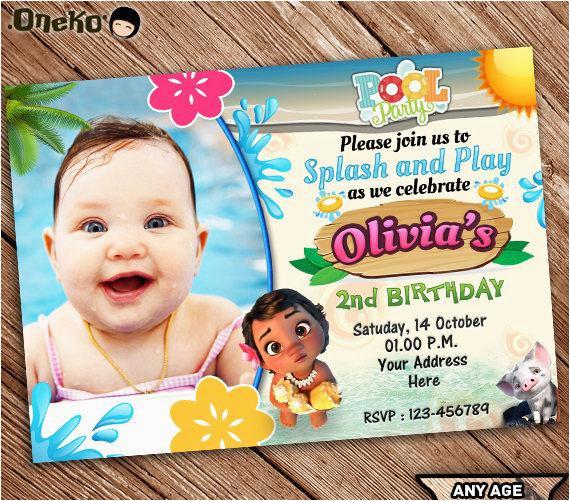 on sale off moana birthday invitation