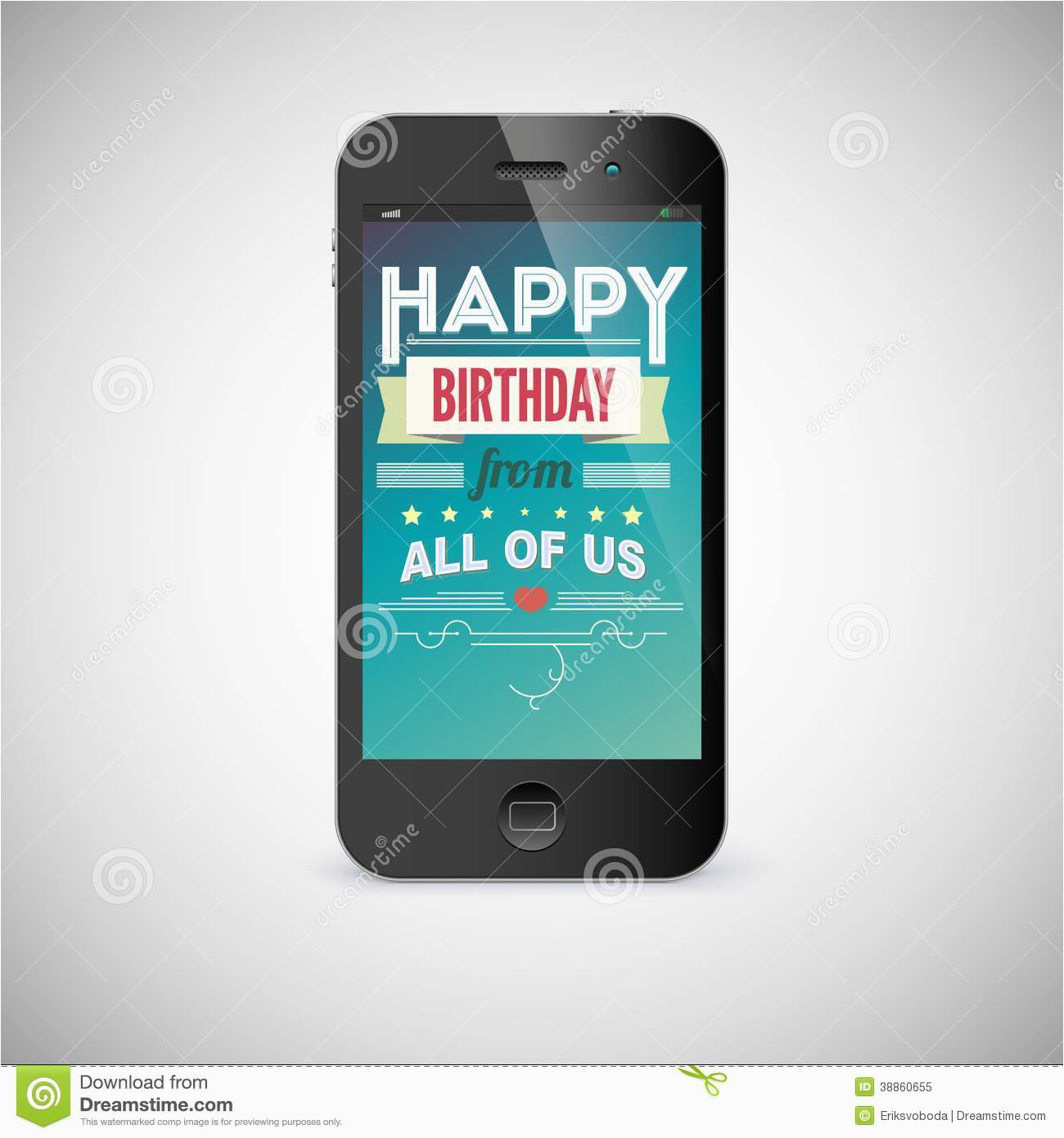 Mobile Birthday Cards Downloads Birthday Greeting Card On Screen Of Mobile Phone Stock