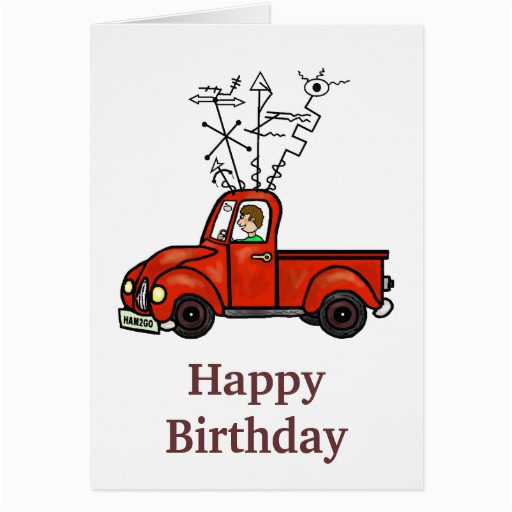 ham radio mobile rig truck birthday card zazzle