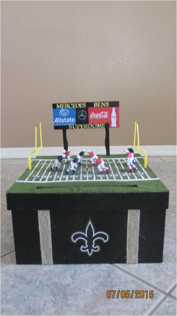 football themed birthday cardmoney box