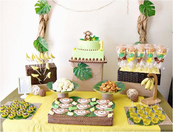 Monkey First Birthday Decorations Monkey 1st Birthday Party A to Zebra Celebrations