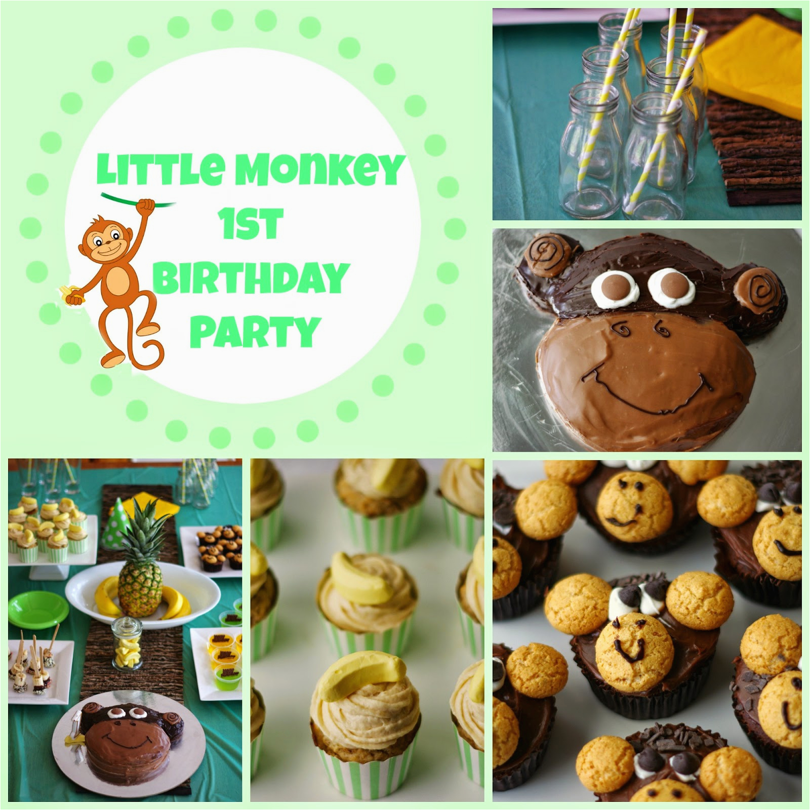 little monkey 1st birthday party