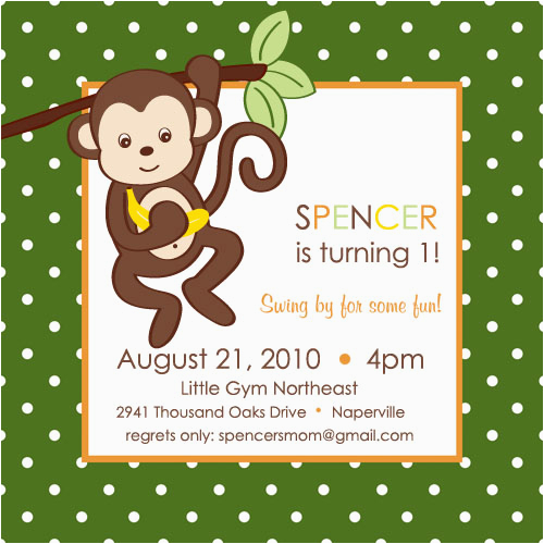 monkey themed play group birthday party