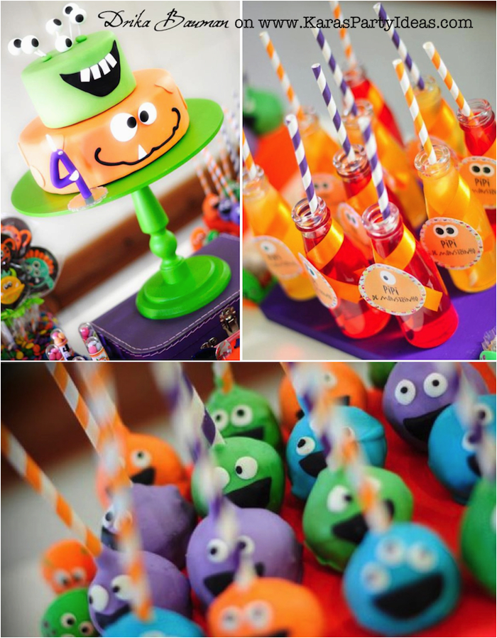 Monster Decorations For Birthday Party Kara 39 S Ideas Boy Girl 4th