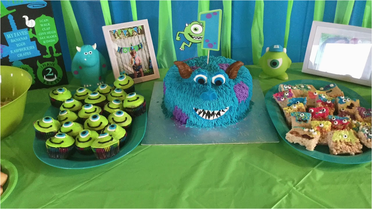 Monster Inc Birthday Decorations Monsters Themed 1st Party Diy