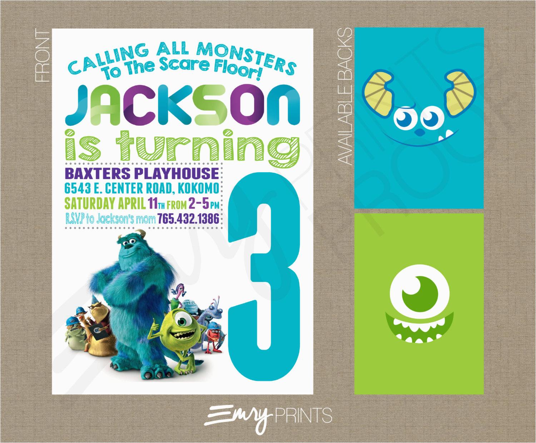 monsters inc birthday invitation chalk