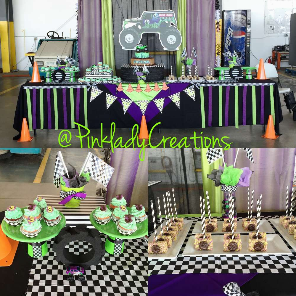 Monster Jam Birthday Decorations Gravedigger Party Ideas Photo 6 Of