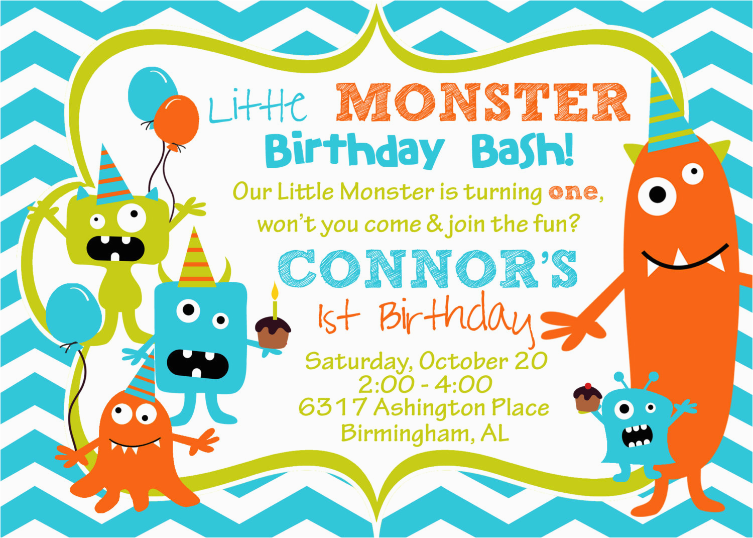 cupcake monster bash birthday party
