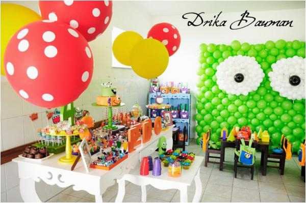 monster themed 4th birthday party