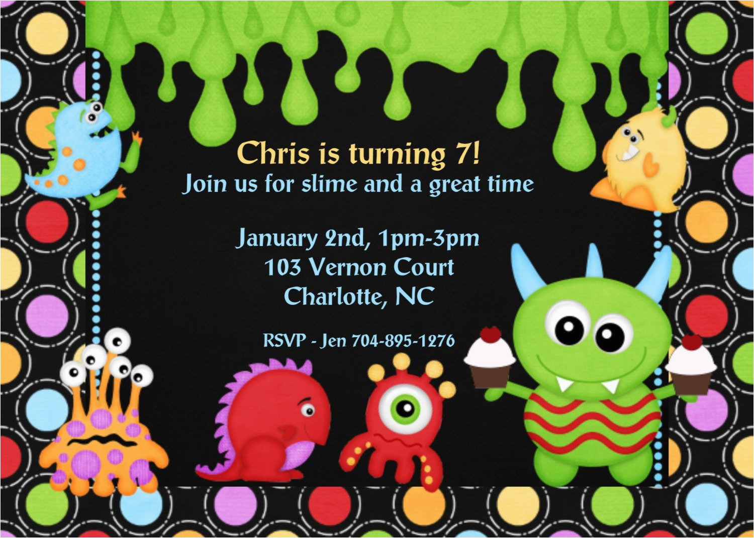 Monster Themed Birthday Party Invitations Best Ideas