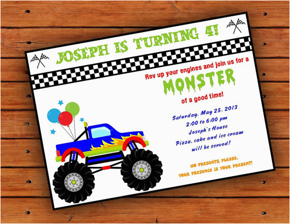 post monster truck template printable 159183