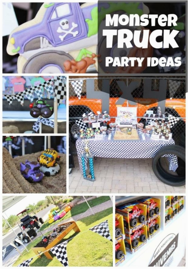monster truck themed birthday party