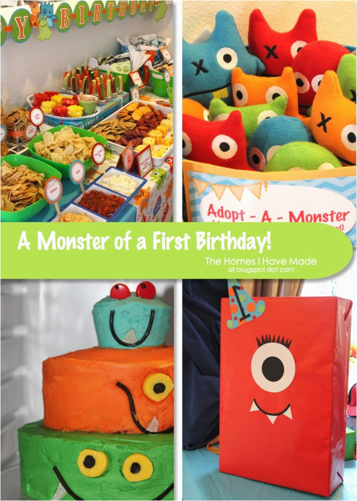 a monster of a first birthday party