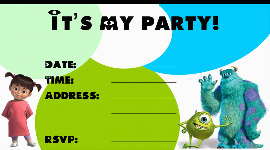 Monsters Inc Birthday Invitations Template Monster Birthday Invitations Ideas Bagvania Free