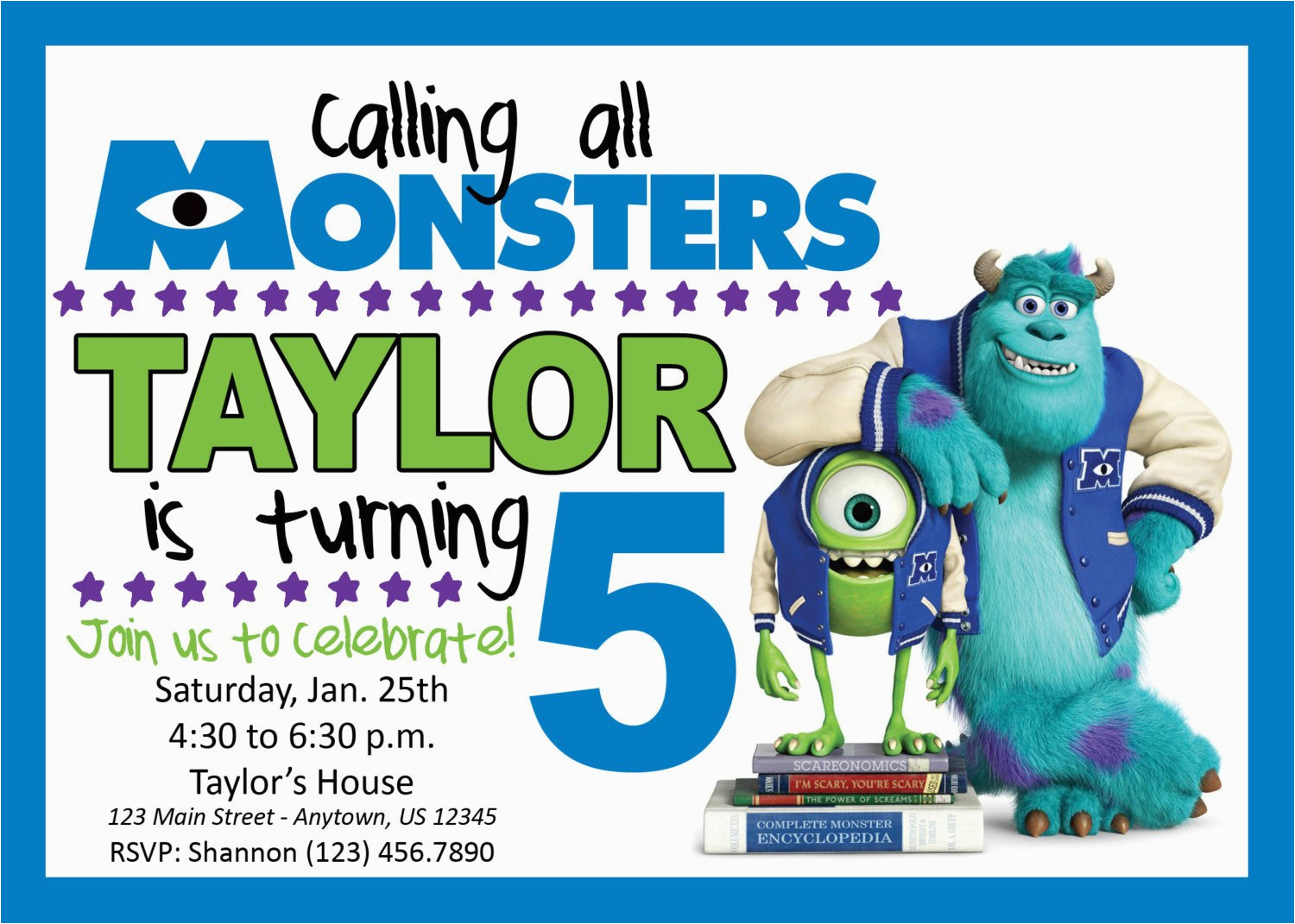 Monsters Inc Birthday Invites Monsters Inc Birthday Party Invitation