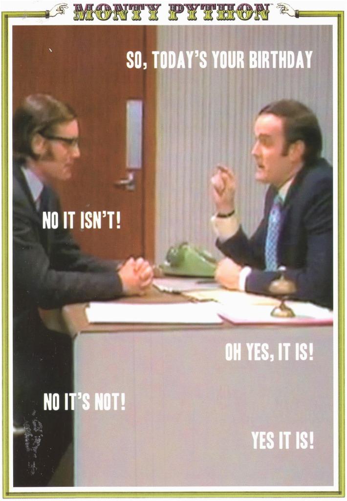 Monty Python Birthday Card Monty Python 5 Minute Argument Birthday Greeting Card