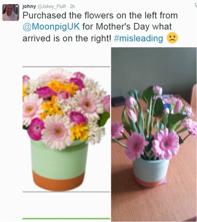 mother 39 s day disaster as interflora flower service and
