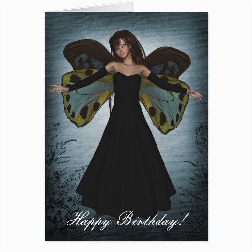 happy birthday dark angel grunge greeting cards 137112855444478679