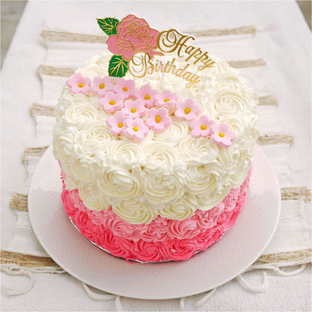 Most Beautiful Birthday Flowers Happy Cake Design Ever With