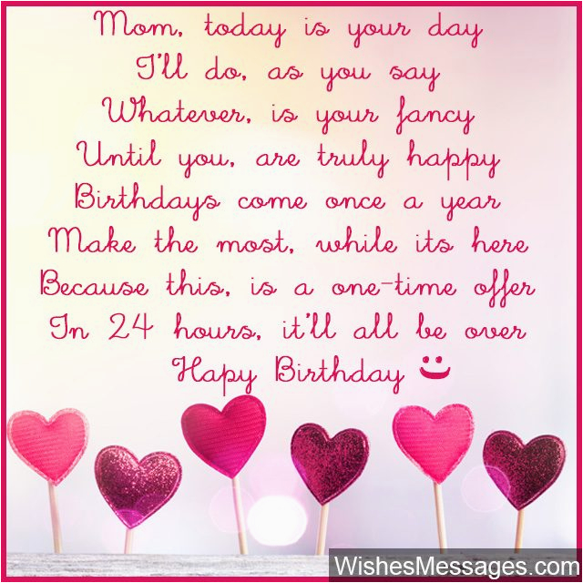 Mother Birthday Card Poems Birthday Poems for Mom Wishesmessages Com