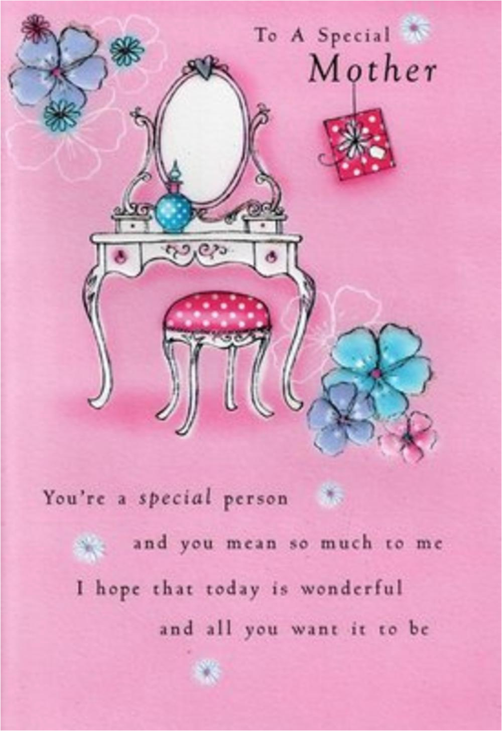 kcsnpim047 mother birthday cards poetry in motion glitter greeting card special verse