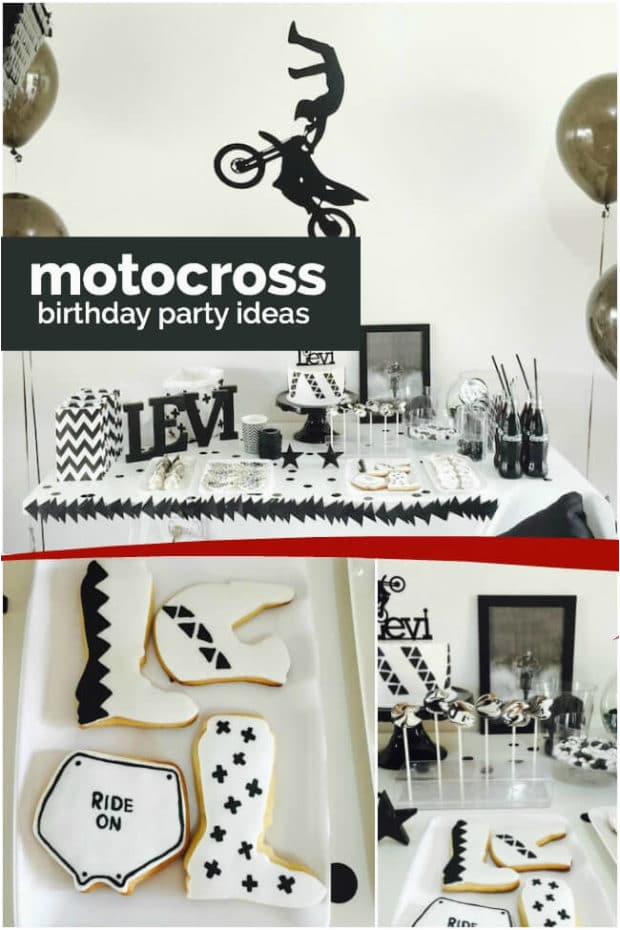 Motocross Birthday Party Decorations A Boy S Motocross Birthday Party Spaceships and Laser Beams