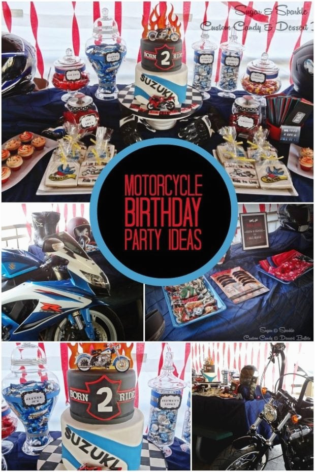 motorcycle themed boys birthday party
