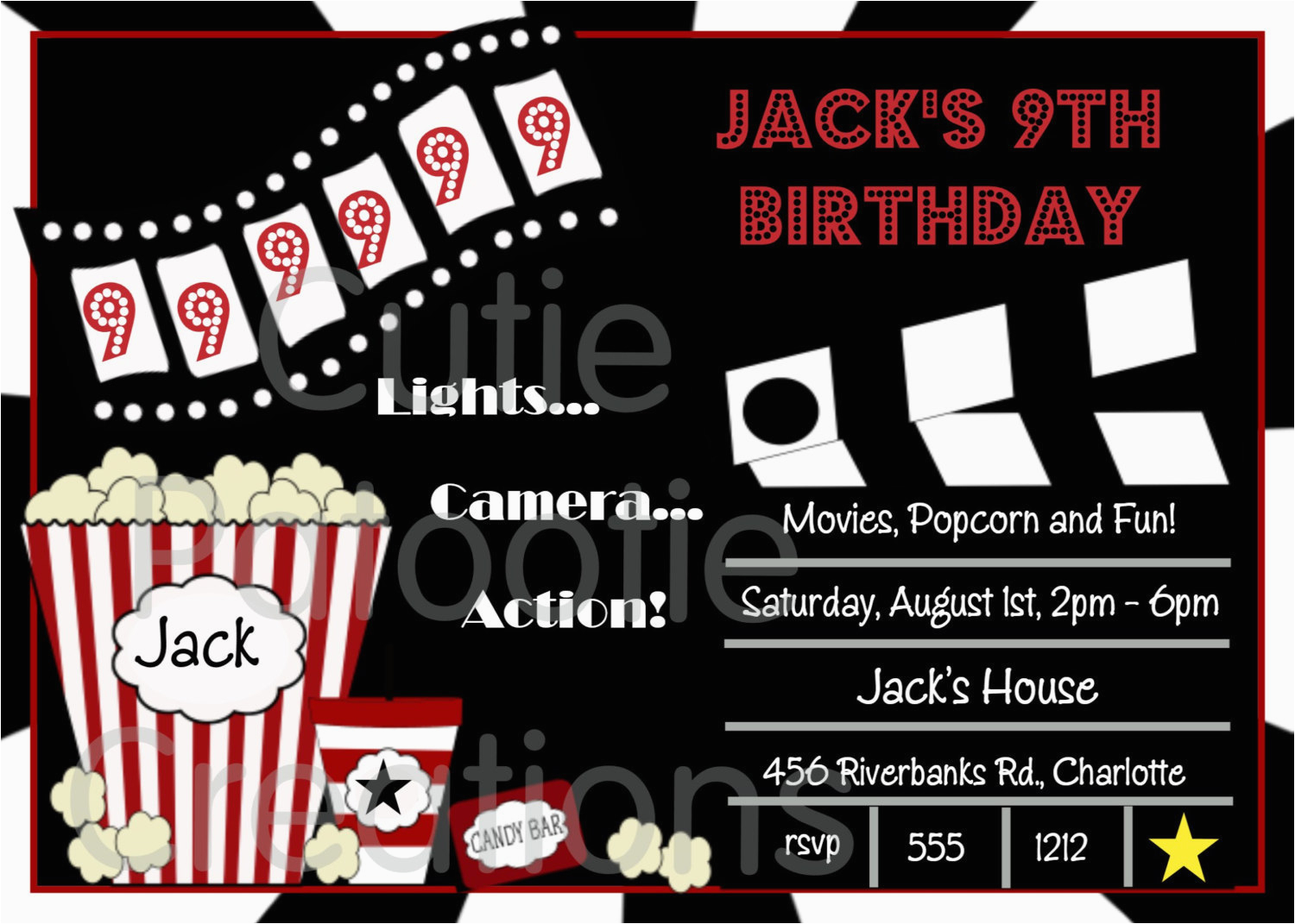 photograph about Movie Night Invitations Free Printable named Video Evening Birthday Invites Totally free Printable Video