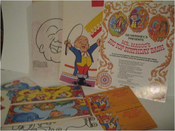 Mr Magoo Birthday Card Bash Circus Time 39 S Big Top