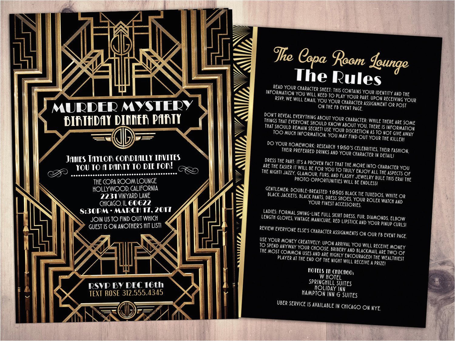 Murder Mystery Dinner Party Invitation