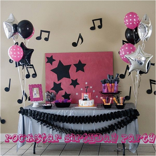 music party decorations