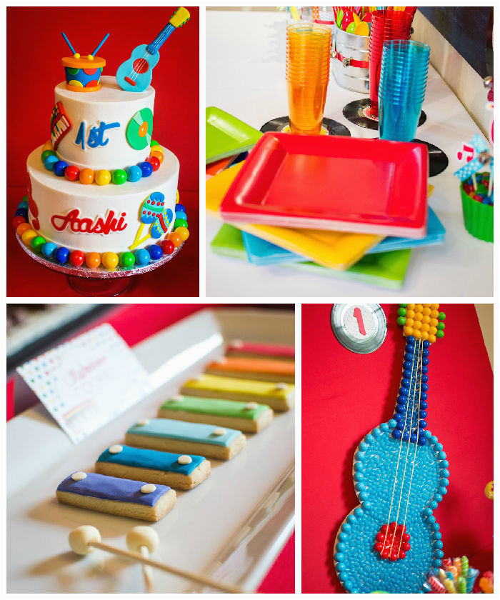 baby jam musical themed 1st birthday party