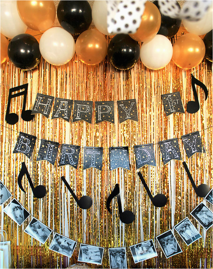Music themed Birthday Decorations A Music themed First Birthday Party Party Inspiration
