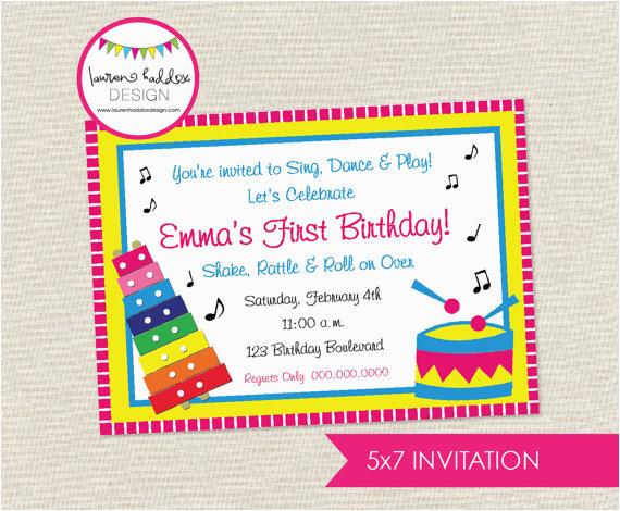 Music Themed Birthday Party Invitations Birthdaybuzz