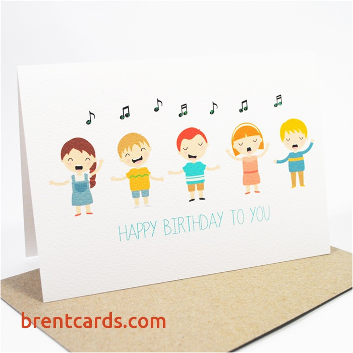 Musical Birthday Cards for Children Singing Cards for Birthday Luxury Happy Birthday Card Kids