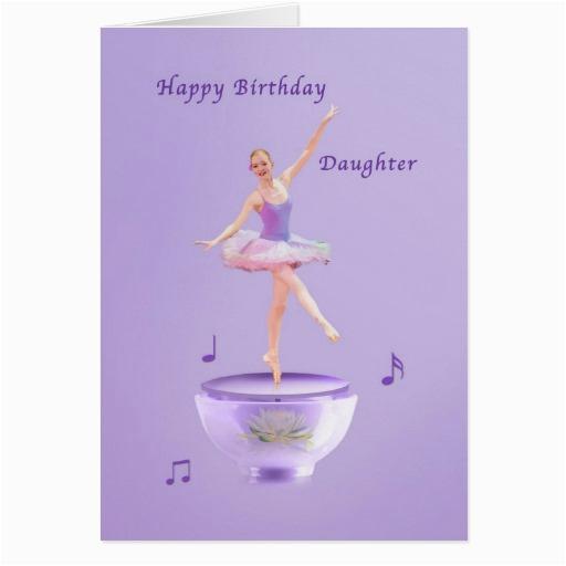 birthday daughter music box ballerina card 137728722809748082