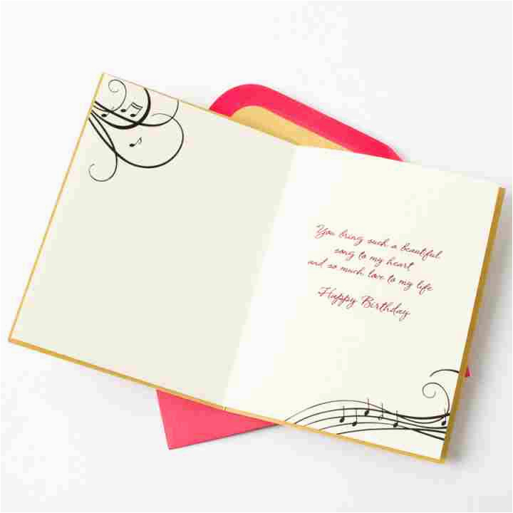 Musical Birthday Cards for Husband Gem Heart Music Notes for Husband Family Birthday