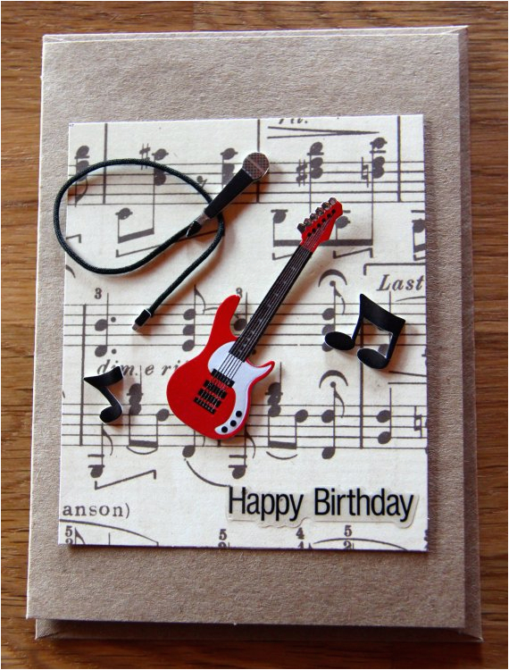 Musical Birthday Cards For Son Handmade Band Card Music