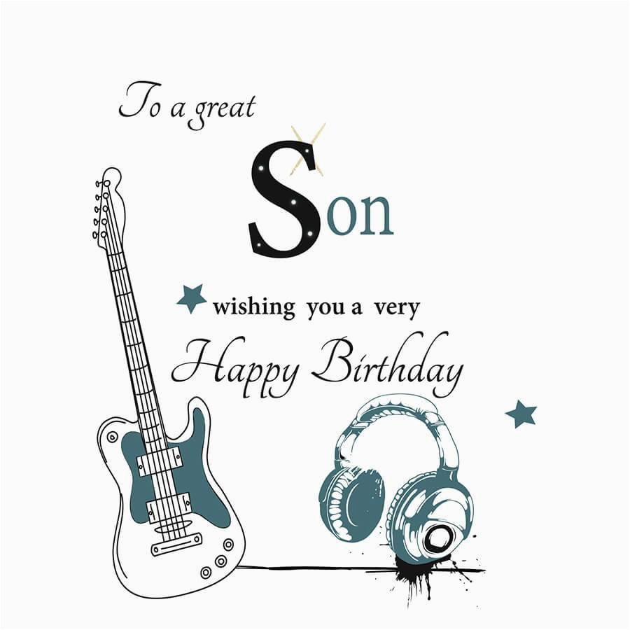 Musical Birthday Cards For Son Happy Card To A Great Wishing You