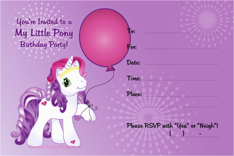 My Little Pony Birthday Cards Free Invitation Printable