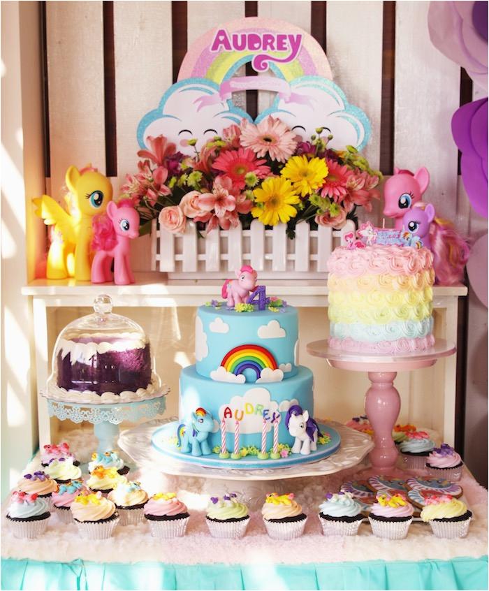 My Little Pony Birthday Party Ideas Decorations Kara 39 S Pastel