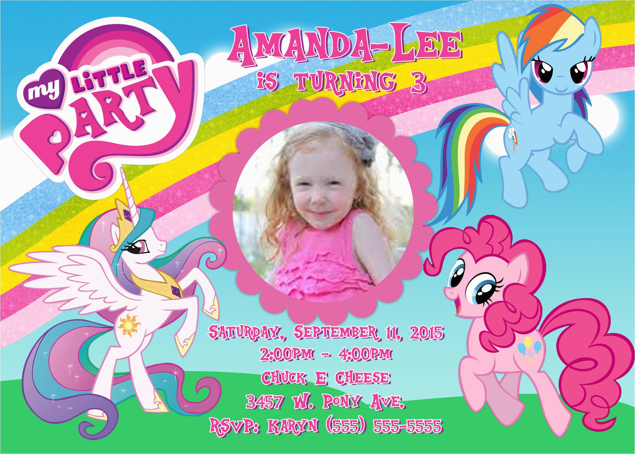 My Little Pony Personalized Birthday Invitations Invitation Kustom Kreations