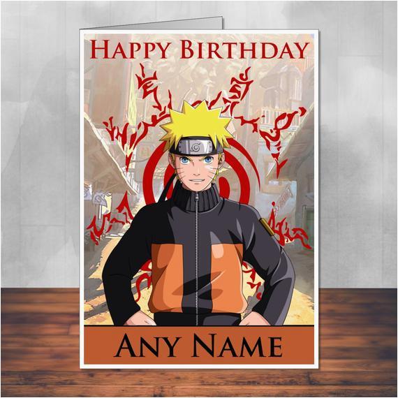 naruto birthday card 5x7 inches 128mm x