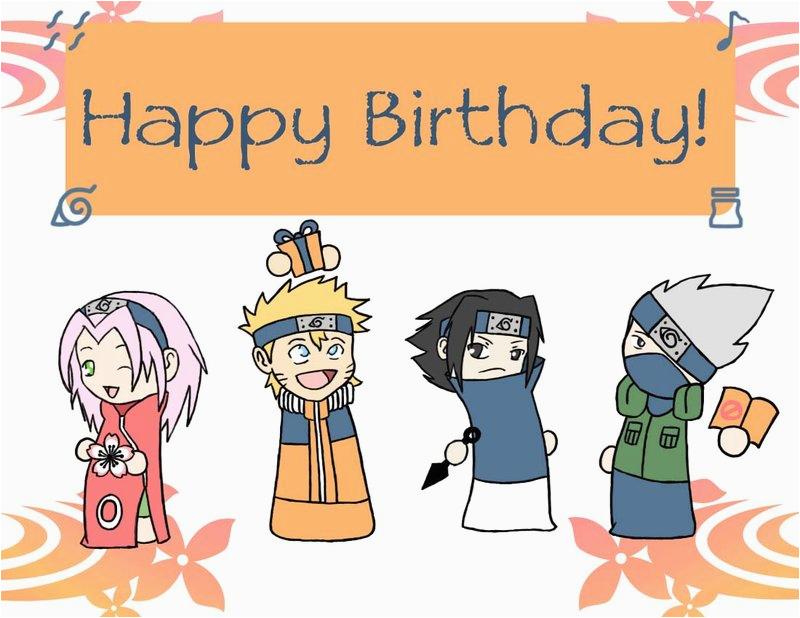Naruto Birthday Card Naruto Birthday Card by Sweetduke On Deviantart