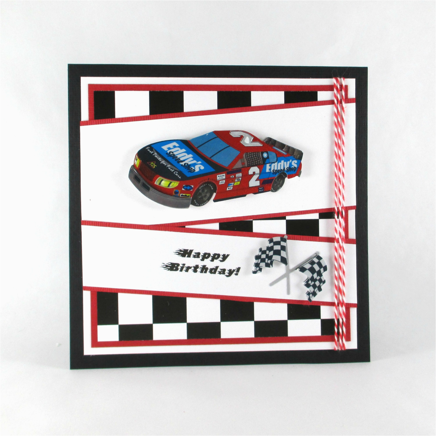 birthday cards race car nascar boys