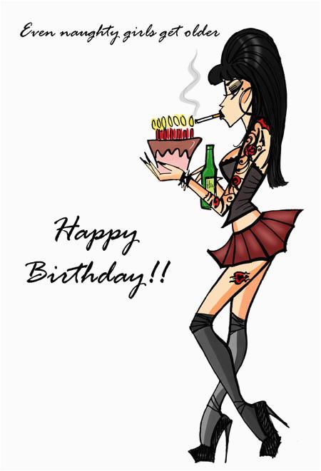 birthday card quot naughty girls quot