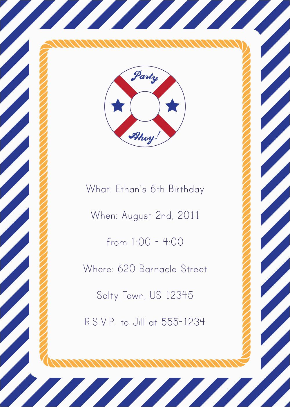 post free printable nautical invitations 386301
