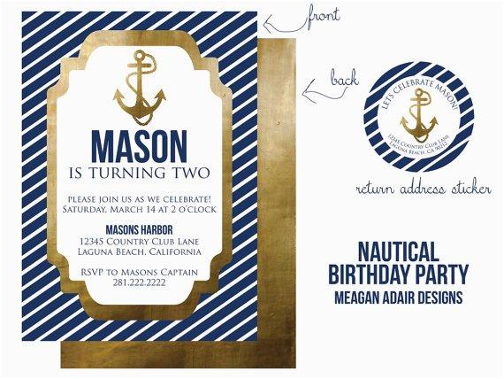 ships ahoy a boys nautical party